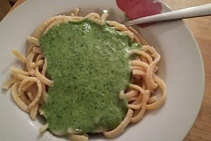 Spaghetti mit Spinatsauce 7