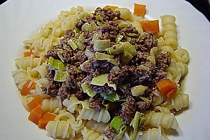 Curryrahm - Nudeln mit Hackfleisch 13