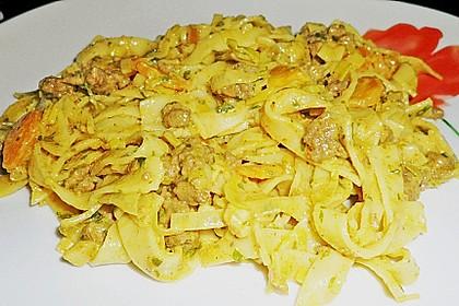 Curryrahm - Nudeln mit Hackfleisch 35