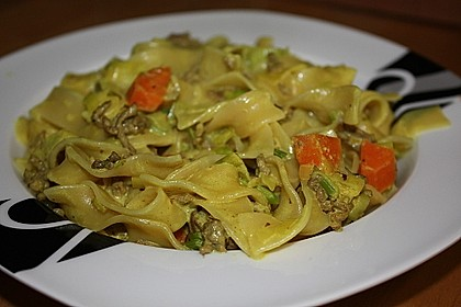Curryrahm - Nudeln mit Hackfleisch 4