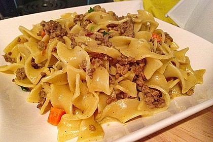 Curryrahm - Nudeln mit Hackfleisch 12