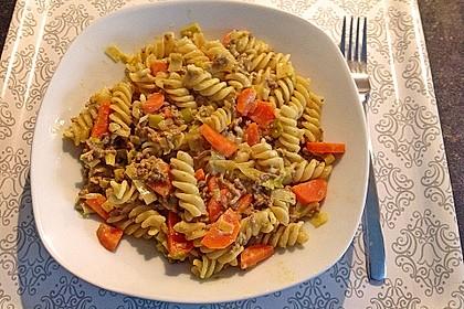 Curryrahm - Nudeln mit Hackfleisch 6