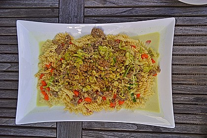 Curryrahm - Nudeln mit Hackfleisch 21