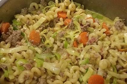 Curryrahm - Nudeln mit Hackfleisch 2