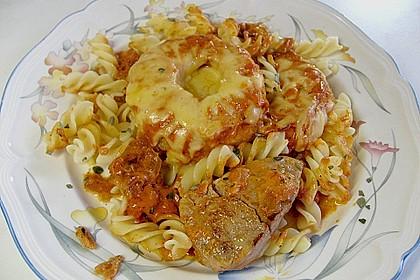 Schweinefilet & Ananas in Currysahne 4