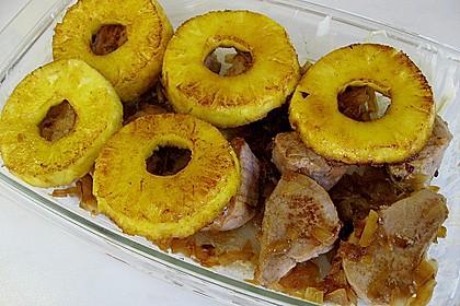 Schweinefilet & Ananas in Currysahne 9