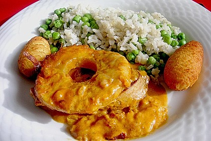 Schweinefilet & Ananas in Currysahne 0