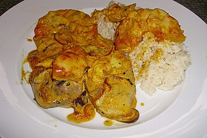 Schweinefilet & Ananas in Currysahne 4