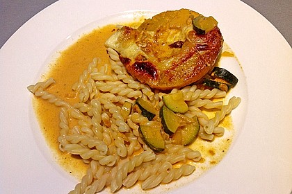 Schweinefilet & Ananas in Currysahne 3