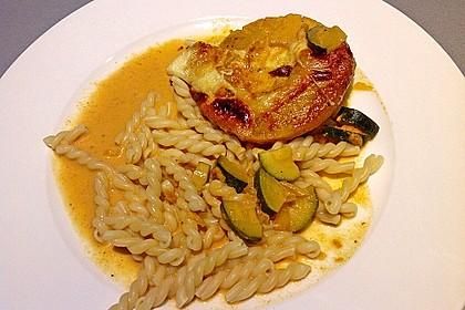 Schweinefilet & Ananas in Currysahne 5