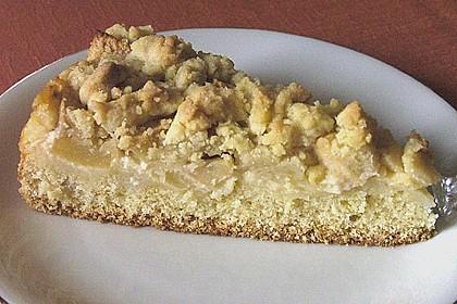 Apfel - Streuselkuchen mit Pudding 32