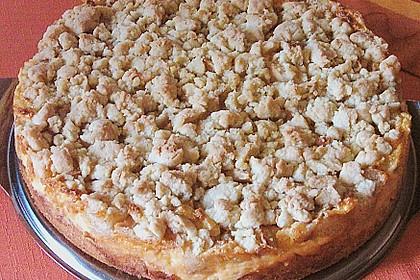 Apfel - Streuselkuchen mit Pudding 26