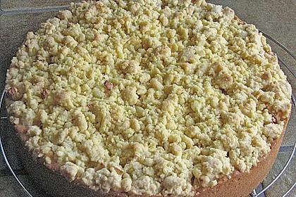 Apfel - Streuselkuchen mit Pudding 45