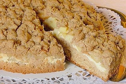 Apfel - Streuselkuchen mit Pudding 4