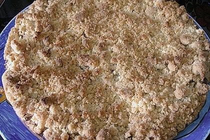 Apfel - Streuselkuchen mit Pudding 22