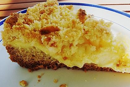 Apfel - Streuselkuchen mit Pudding 54