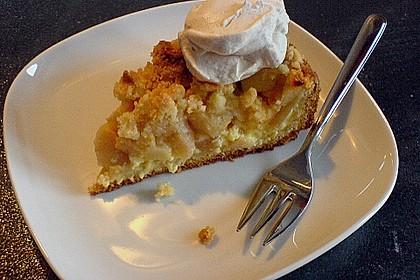 Apfel - Streuselkuchen mit Pudding 11