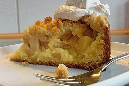 Apfel - Streuselkuchen mit Pudding 37