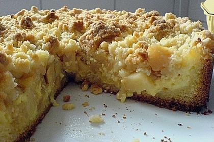 Apfel - Streuselkuchen mit Pudding 24