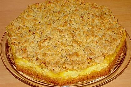 Apfel - Streuselkuchen mit Pudding 30
