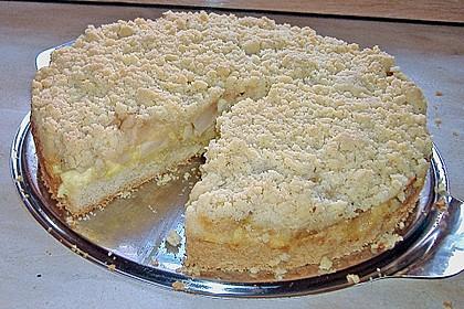 Apfel - Streuselkuchen mit Pudding 55