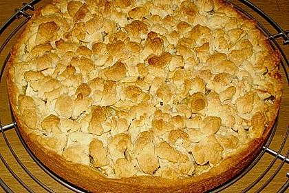 Apfel - Streuselkuchen mit Pudding 39