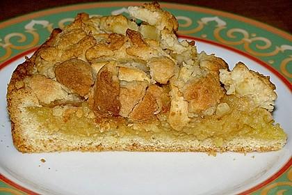 Apfel - Streuselkuchen mit Pudding 3