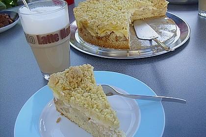 Apfel - Streuselkuchen mit Pudding 14