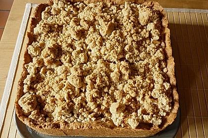 Apfel - Streuselkuchen mit Pudding 34