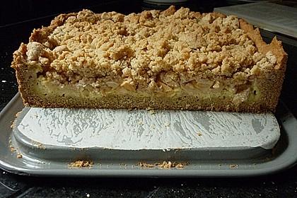 Apfel - Streuselkuchen mit Pudding 41