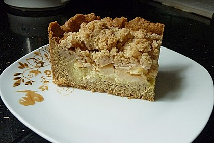 Apfel - Streuselkuchen mit Pudding 25