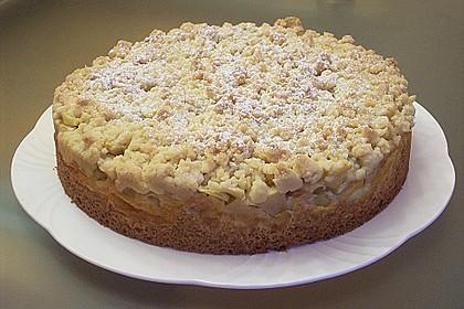 Apfel - Streuselkuchen mit Pudding 20
