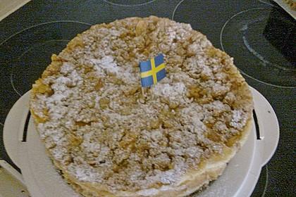 Apfel - Streuselkuchen mit Pudding 62
