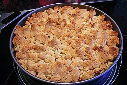 Apfel - Streuselkuchen mit Pudding 50
