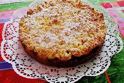 Apfel - Streuselkuchen mit Pudding 29