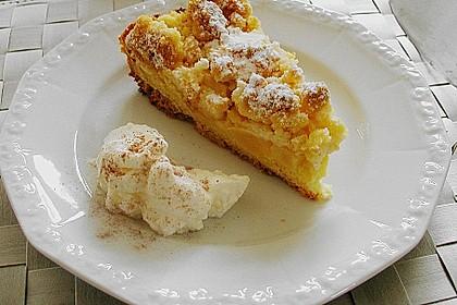 Apfel - Streuselkuchen mit Pudding 1