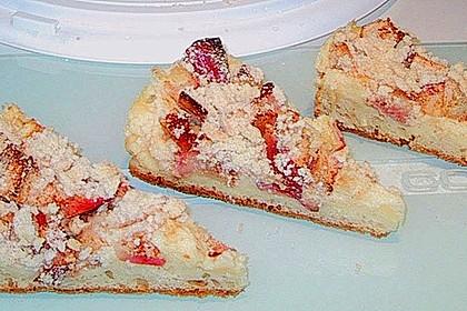 Apfel - Streuselkuchen mit Pudding 10