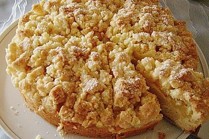 Apfel - Streuselkuchen mit Pudding 46