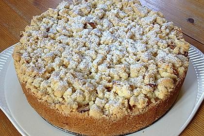 Apfel - Streuselkuchen mit Pudding 0