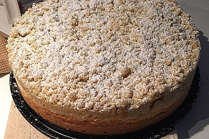 Apfel - Streuselkuchen mit Pudding 8