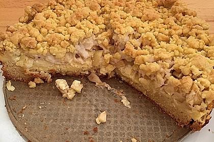 Apfel - Streuselkuchen mit Pudding 9
