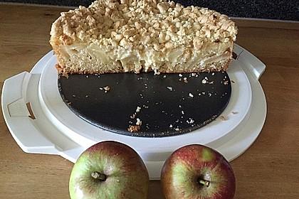 Apfel - Streuselkuchen mit Pudding 17