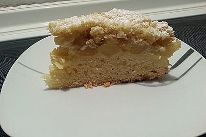 Apfel - Streuselkuchen mit Pudding 43