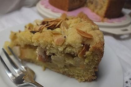 Apfel - Streuselkuchen mit Pudding 15