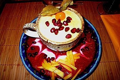 Mangoparfait auf Himbeerpüree 3