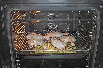 Hähnchenschenkel mit Ofen - Schmand - Gemüse 27