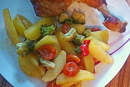 Hähnchenschenkel mit Ofen - Schmand - Gemüse 11