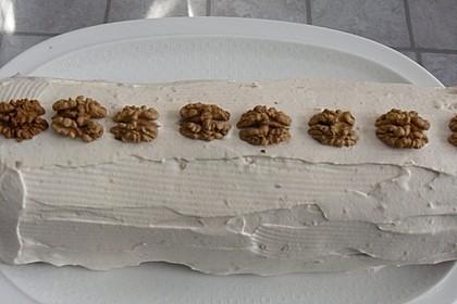 Biskuitrolle mit Nutella - Cappuccinosahne 16