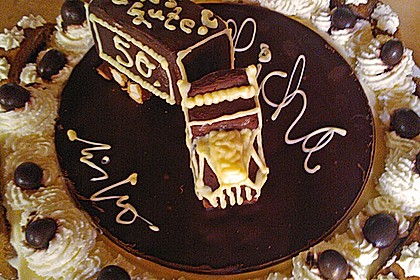 Biskuitrolle mit Nutella - Cappuccinosahne 17
