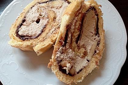 Biskuitrolle mit Nutella - Cappuccinosahne 20